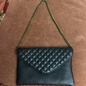 JCREW quilted clutch